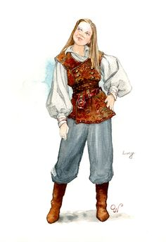 Dawn Treader Lucy - And she has blonde hair like in the books!