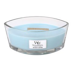 WoodWick® HearthWick Flame® Ellipse Sea Salt & Cotton