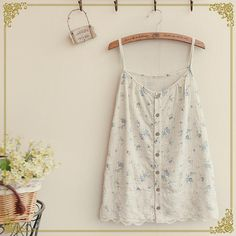 faded floral bedsheet camisole