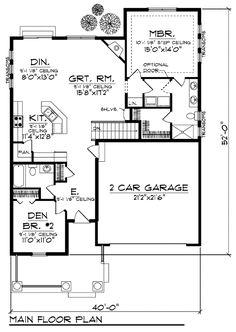 1000 Images About House Plans On Pinterest Narrow Lot