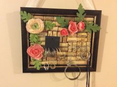Jewelry Holder Jewelry Cork Frame. Jewelry by LuxeDesignsbyLucy, $24.99 https://www.etsy.com/shop/LuxeDesignsbyLucy