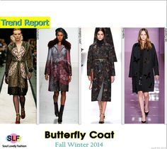 Enchanted ForestButterfly #Coat #Fashion Trend for Fall Winter 2014 #Prints #Fall2014Trends