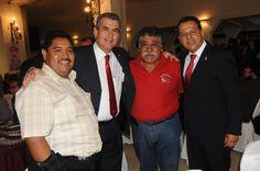 En el festejo del 65 aniversario: Senador Chico Herrera, regidor Merino y más de nuestros invitados.