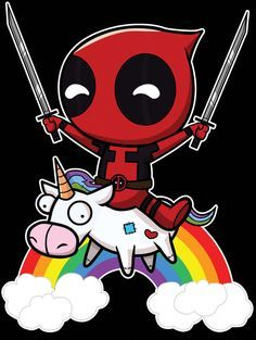 Riding a Unicorn #deadpool