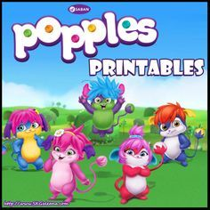 Free Fun Party Popples Printables and Activities | SKGaleana