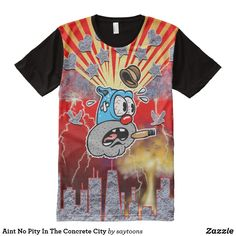 $41.50-Aint No Pity In The Concrete City All-Over-Print Shirt #Saytoons