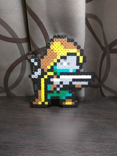 "I bought some perler beads ""for my daughter."" Thought I would share my Destiny creation."