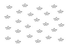 NEW  Printable paper boats pattern by MyPoeticFactory on Etsy