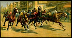 https://flic.kr/p/7us9oe | Cigarette Card - Riderless Horse Race | Carreras Cigarettes, Races Historic and Modern (postcard size) 1927. No5 Riderless Horse Races, Italy.