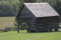 CORN CRIB--One of our favorite hiding places was Grandpa's corn crib.