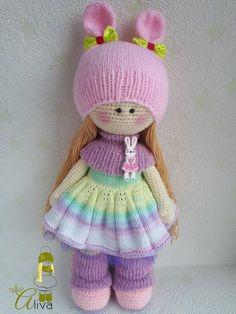 handmade toys crochet doll handmade doll Doll to order Crochet Doll Pattern, Easy Crochet Patterns, Crochet Dolls, Crochet Baby, Sewing Toys, Sewing Crafts, Crochet Doll Clothes, Crochet Gifts, Amigurumi Doll