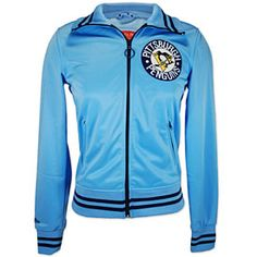 Pittsburgh Penguins Ladies Vintage Track Jacket http://pinterest.com/hamptoninnmonro/ #hamptoninnmonroeville http://www.facebook.com/#!/HamptonInnMonroeville #pittsburghhotel