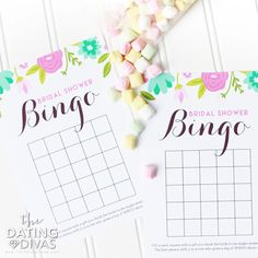 Easy Bridal Shower Games and Activities - just print and done!