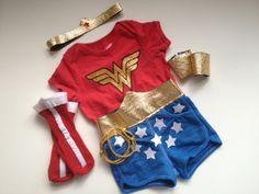 DIY baby/kid Wonder Woman costume