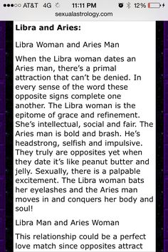 Perfect match for aries man