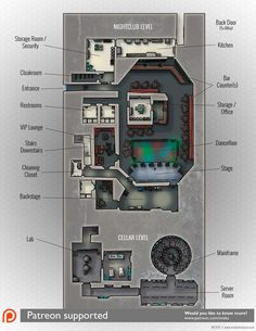 Miska Fredman – Page 3 – RPG Cartography & Design D20 Modern, Sci Fi Rpg, Edge Of The Empire, Building Map, Server Room, Cyberpunk, Dungeon Maps, Star Wars Rpg, Fantasy Map