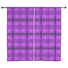 Curtains for your home Bright Pink Mod Circles #cafepress #trends #decor #homedecor