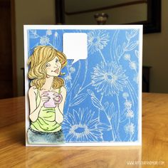 art scrap & more: alexandra's Sunday scrapbooking - Stamping with Softscrub! // Tamponner avec du Cif!