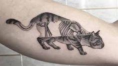 Znalezione obrazy dla zapytania creepy cat tattoo