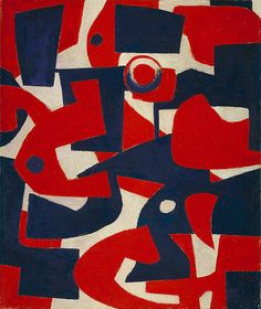 Untitled Abstraction  1934-1939  Wilfrid Zogbaum   Born: Newport, Rhode Island 1915   Died: New York, New York 1965   oil on canvas  23 3/4 x 20 in. (60.3 x 50.8 cm.)  Smithsonian American Art Museum  Gift of Patricia and Phillip Frost  1986.92.112    Personal, Find the best #Artistic installations in     NYC on https://www.artexperiencenyc.com