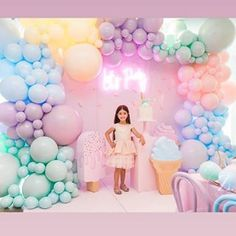 Kara's Party Ideas Here's the Scoop Pastel Ice Cream Party First Birthday Parties, Birthday Party Decorations, Girl Birthday, Pastel Party Decorations, Colorful Birthday Party, 17th Birthday, Party Kulissen, Candy Party, Party Ideas