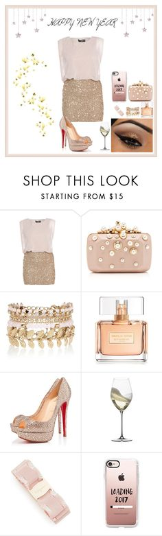 """""""FELIZ ANO NOVO"""" by heloisarodrigues14 ❤ liked on Polyvore featuring AX Paris, Elie Saab, River Island, Givenchy, Christian Louboutin, Riedel, Salvatore Ferragamo, Sephora Collection, Casetify and men's fashion"""