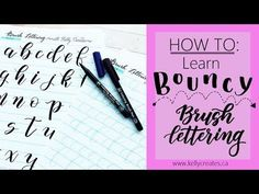 HOW TO: Learn Bouncy Brush Lettering - YouTube