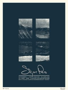 Sigur Ros concert poster  Nov 1, 2002  at the Vista Theater- Silverlake  hand made silkscreen print  poster measures 18 inches x 24 inches  hand signed limited edition  artist: Micah Smith