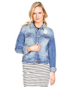 Chaquetas Vila Clothes Vifever Azul Claro en Nice & Crazy