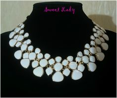 Statement #necklace #jewlery #wite https://www.facebook.com/pages/Sweet-Lady/208753725975495?ref=hl