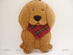 Dog Felt Christmas Ornament - Felt Dog Ornament - Coonhound dog - Conhound redbone dog felt ornament - redbone hounds dog by ynelcas on Etsy https://www.etsy.com/listing/471513805/dog-felt-christmas-ornament-felt-dog