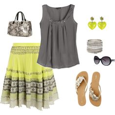 Summertime, created by proverbsandpearls via polyvore