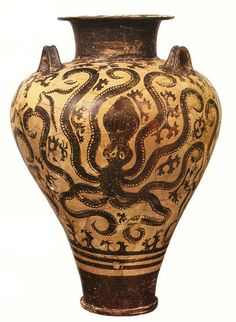 Pottery of the Crito-Mycenaean civilization.   Kerkinitida Evpatoria history from ancient times, to the present day Rest and treatment in Evpatoria Ancient Greek Art, Ancient Aliens, Ancient History, Greek Pottery, Pottery Art, Ancient Greece Clothing, Minoan Art, Mycenaean, Ancient Artifacts