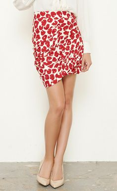 Thakoon Red And White Skirt