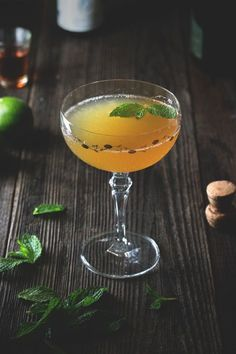 Old Cuban  |  aged rum, lime juice, simple syrup, bitters, sparkling wine, mint leaves...so yum  |  honestlyyum