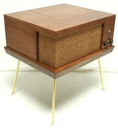 VINTAGE 50s 60s Mid Century Voice of Music Record Player Console Bluetooth Wireless. This is a great design would be a FABULOUS addition to your