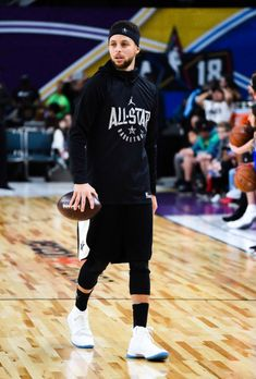 Stephen Curry at the 2018 NBA All-Star Game Practice