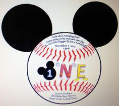 Hey, I found this really awesome Etsy listing at https://www.etsy.com/listing/213359875/mickey-mouse-baseball-birthday
