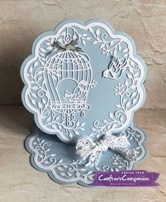 Easel Card made using Crafter's Companion Die'sire Create a Card Die Birdcage Easel Designed by Nicole Preston #crafterscompanion