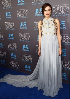 Keira Knightley in a gorgeous pale blue Delpozo gown at the 2015 Critics' Choice Movie Awards