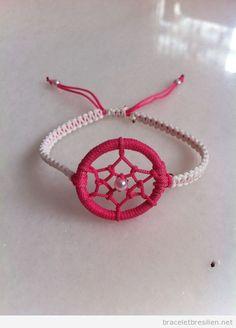 Bracelet de fils capteur de rêves 2                                                                                                                                                      Plus