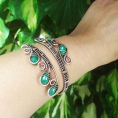 Hey, I found this really awesome Etsy listing at https://www.etsy.com/listing/236204067/wire-statement-bracelet-wire-wrapped