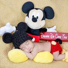 Prop de foto de bebé recién nacido ratón de mickey bebé prop
