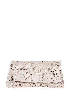 Lace Cut Clutch in Pearl | $ 49.99