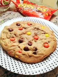 giant reeses pieces peanut butter cookies.