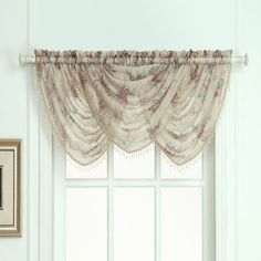 Laura Ashley® Stowe Window Curtain Waterfall Valance