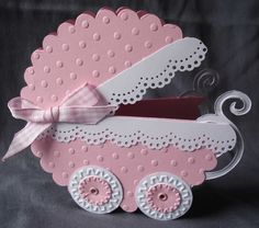 Pink Baby Carriage  Cards, Cardmaking
