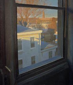 """Peter Van Dyck """"February 7 am"""" 30"""" x 26"""" oil on linen 2008"""