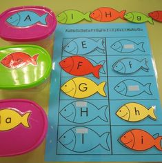 alfabeto de peces