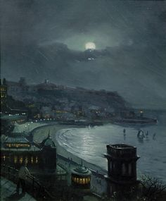 View Scarborough by moonlight By Walter Meegan; oil on canvas; Access more artwork lots and estimated & realized auction prices on MutualArt. Dante Gabriel Rossetti, Nocturne, Monet, Budapest, Scarborough England, Grand Duc, Reine Victoria, Moonlight Painting, British Seaside